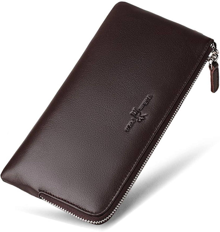 36fb42c8509e8 DZX Schmaler Luxus-Portemonnaie Aus Leder - - - Leder-Rei szlig verschluss-Design  Hand Mit Schwarzem Portemonnaie-Clip