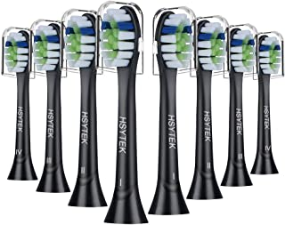 HSYTEK Replacement Brush Heads Compatible with Sonicare ProtectiveClean Toothbrush, Fit DiamondClean, FlexCare, Plaque Control, Gum Health, HealthyWhite, EasyClean, 8 Pack Black