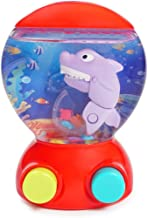 Konig Kids Handheld Shark Water Game Machine Ocean World Learning Toy for Toddlers, Red