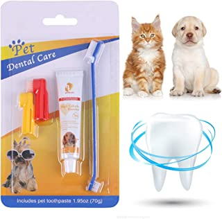 CBROSEY Dog Toothpaste,Pasta Dental Perros,Toothbrush for