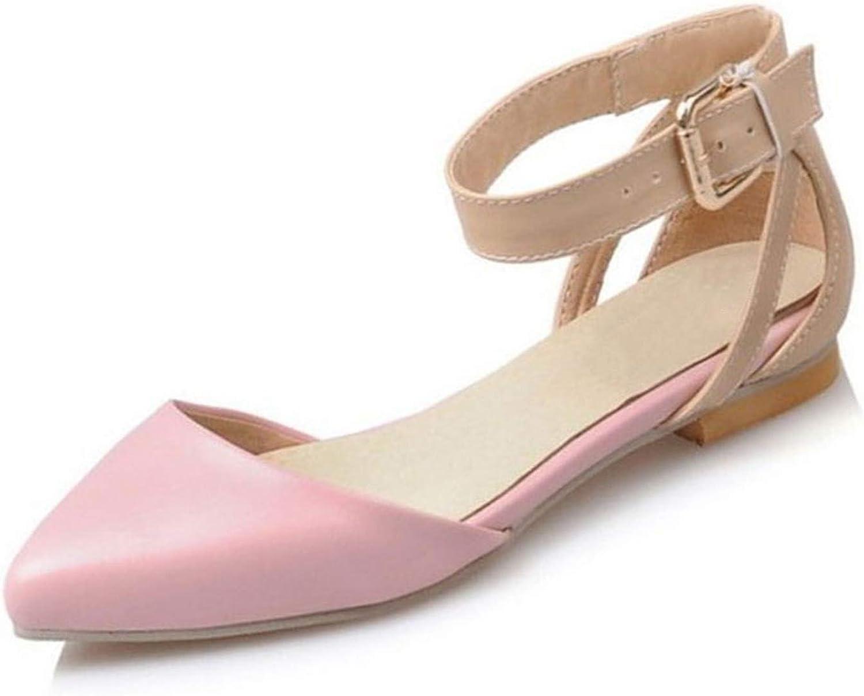 April Med Du kvinnor Flats Sandaler sommar Ankle Ankle Ankle Strap Point Toe Sandal Daily Party Vacations Footbads Storlek 34 -39  köp varumärke