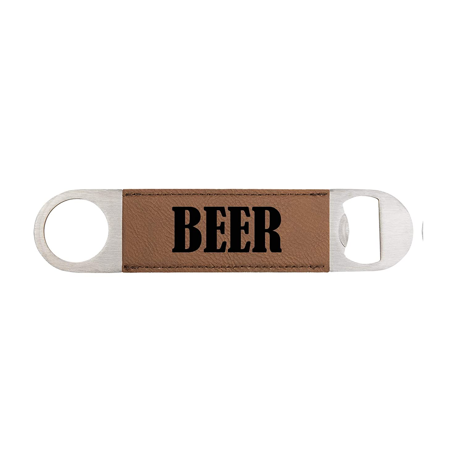 Custom Beer Bottle Opener Popular product made of in Stainless wrapped Lea Popular product Steel