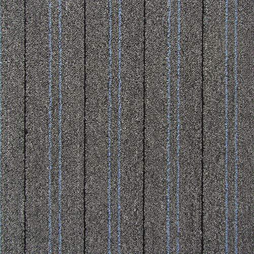 All American Carpet Tiles Harmony 23.5 x 23.5 Plush Easy to Install Do It Yourself Peel and Stick Carpet Tile Squares – 9 Tiles Per Carton – 34.52 Square Feet Per Carton (Steel)