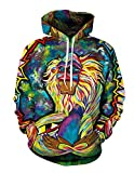 Boom Fashion - Unisex Sudadera con Capucha, 3D Cartoon Mono Impreso, Manga Larga,...