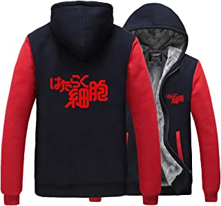 Cells at Work Cosplay Costume Red Blood Cell Thick Winter Jacket Hoodie