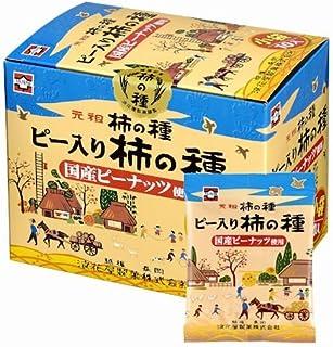 元祖柿の種 ピー入り柿の種 国産ピーナッツ使用 190g(19g×10)