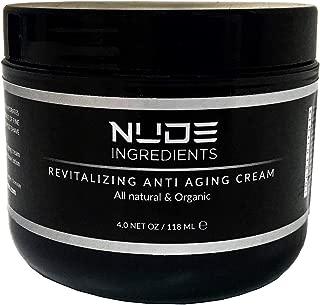 Revitalizing Anti Aging Cream, All Natural & Organic, 4 Oz