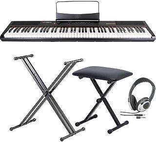 【スタンド+ヘッドホン+イス付】artesia アルテシア Performer/BK 電子ピアノ ベロシティーセンシティビティ鍵盤 デジタルピアノ