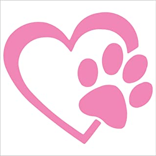 HEART with DOG PAW Puppy Love 4
