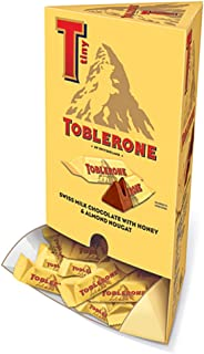 Toblerone Tiny Mini Swiss Chocolate Bars - Fun Size – 100 Count