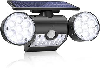 Solar Lights Outdoor, KeShi LED Motion Sensor Solar Security Lights with Dual Head Spotlights 360° Adjustable Outdoor Solar Lights for Front Door Yard Garden Garage