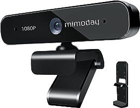 1080p Webcam with Dual Microphone, Full HD USB PC Computer Web Camera for Laptop Desktop MacBook, Plug and Play, 360° Adju...