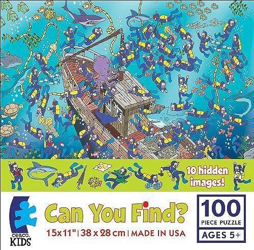 100% autentico Can You Find 100 Piece Puzzle - Sunken Treasure Treasure Treasure by Ceaco by Ceaco  primera vez respuesta