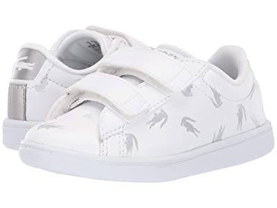 Lacoste Kids Carnaby Evo 419 1 (Toddler) (White/Silver) Kid