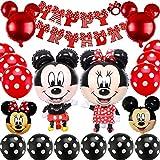Mickey Mouse Themed Decoraciones de Fiesta, BESTZY Mickey Party Globos Artículos de Fiesta de Mickey y Minnie para Fiestas de Cumpleaños Decoraciones