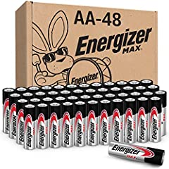 48 pack of Energizer MAX alkaline AA batteries Our No.1 Longest Lasting MAX AA battery powers everyday devices Leak resistant construction protects your devices from leakage of fully used batteries for up to 2 years. Bonus: It's guaranteed Power for ...