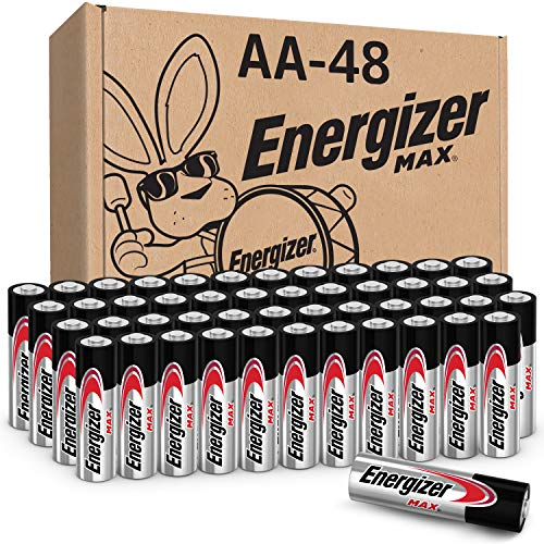 Energizer AA Batteries (48 Count), Double A MAX Alkaline Battery (Packaging May Vary)