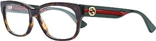 GG 0278O 012 Havana Plastic Rectangle Eyeglasses 55mm