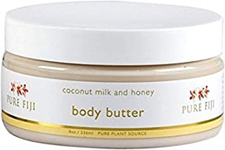 Pure Fiji Body Butter, Coconut Milk and Honey, 8 Ounce