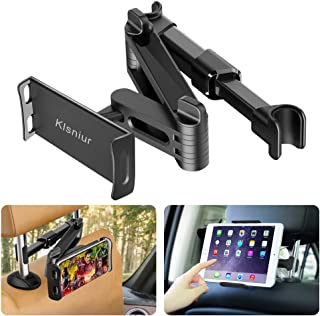 Car Headrest Mount/Tablet Holder Car Backseat Seat Mount/Tablet Headrest Holder Universal 360° Rotating Adjustable for All...