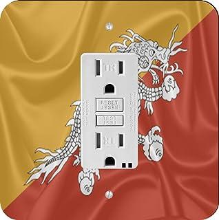 Rikki Caballero 2738diseño de bandera de bhután Interruptor de luz Plate