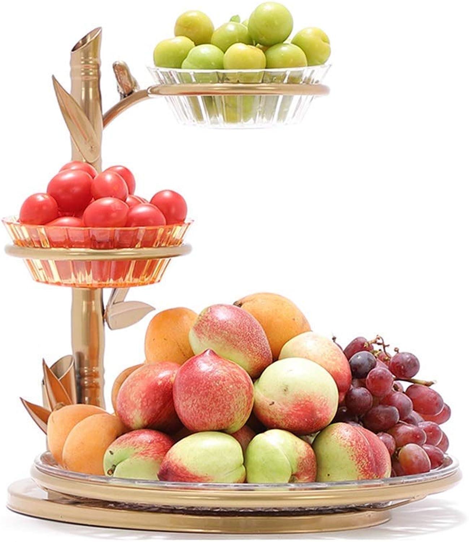 LIHUA Support de RangeHommest de Support de légume de Fruit, Panier à Pain et Corbeille de Fruit pour Le Salon, présentoir de Support à Panier en métal à 3 Niveaux pour Fruits légumes