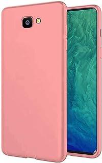 TBOC Funda para Samsung Galaxy J4+ - J4 Plus - Carcasa Rígida [Rosa] Silicona Líquida Premium [Tacto Suave] Forro Interior Microfibra [Protege la Cámara] Antideslizante Resistente Suciedad Arañazos