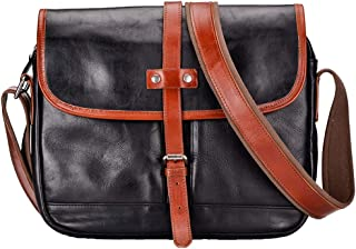 Mens Bag Male Leather Business Tote, Japanese Crazy Horse Leather Travel Bag, Large Wear Capacity,Black American Retro Leather Large Backpack, High capacity
