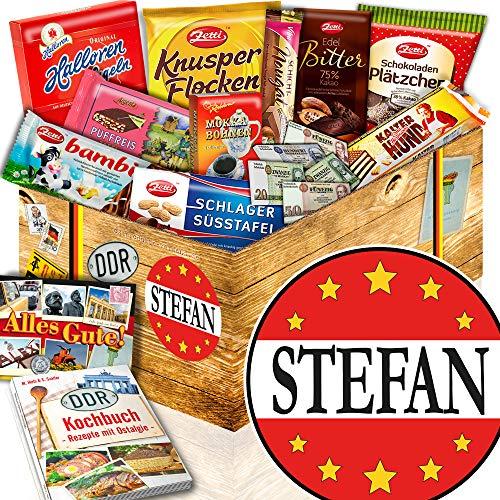 Stefan - DDR Schoko Korb - Geschenk Jubiläum Stefan