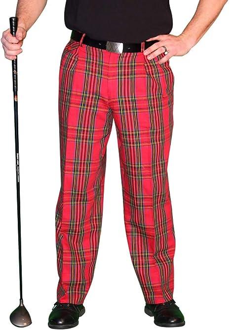 Men's Steampunk Pants & Trousers Royal Stewart Golf Trousers - Mens Par 5 Cotton  AT vintagedancer.com