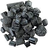 mookaitedecor Piedras de turmalina negra en bruto, piedras minerales para familia/oficina/jardín/acuario, decoración de cristal, reiki y curación (25-35 mm, 460 g)