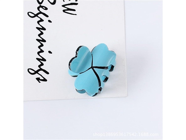 アンカー粘り強いホースOsize 美しいスタイル キャンディー色のトランペットプリンセスヘアピンミニ小型グリップクリップヘアアクセサリー(ブルー)
