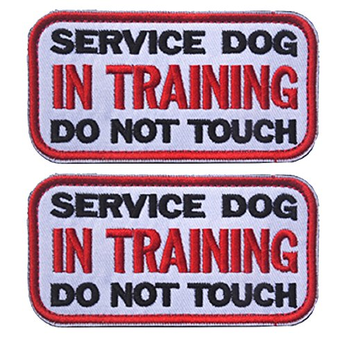 3.94 x 1.96 Inch Service Dog in Training Do Not Touch Dog Patches...