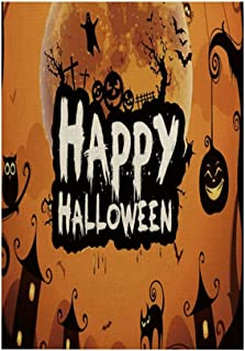 ASKLKD Bannière de jardin d'Halloween, truc de conception d'impression double face ou traite des décorations de jardin d'e...