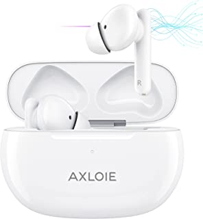Wireless Earbuds,AXLOIE Active Noise Cancelling Bluetooth Earphones,in-Ear Wireless Headphones with 4-Mic Clear Call,ANC S...