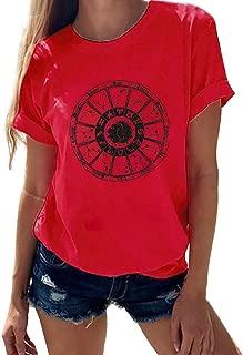 Summer Tops for Women, Women's Simple Fashion O-Neck Pineapple Print Short-Sleeved T-Shirt