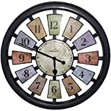 Westclox 36014 Color Panel Round Quartz Wall Clock, 18.5-Inch, Black