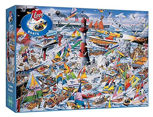 Gibsons Puzzle – I Love Boote (1000 Stück)