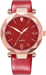 Women Watches Ladies Dress Wrist Quartz Watches Elegant Casual Analog Classic Business Watches (Red)