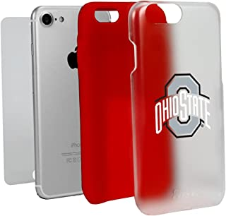 Guard Dog Ohio State Buckeyes Clear with Red Hybrid Case for iPhone 7/8 with Guard Glass Screen Protector