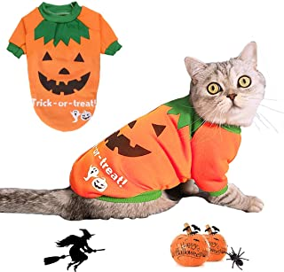 BWOGUE Dog Halloween Shirt Pet Pumpkin Costumes Pet Clothes Funny T-Shirt for Small Dogs and Cats Halloween Cosplay Holiday Festival Party