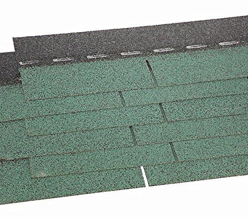 weka Holzbau GmbH Dachschindeln rechteckig Grün, 3 m² tegole per Tetto, Verde, 100 x 34 x 60 cm
