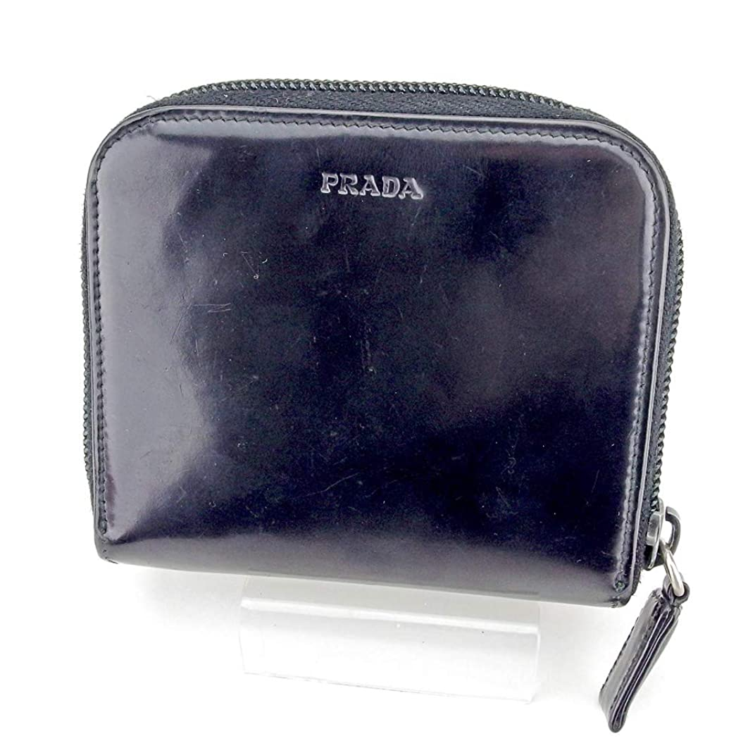 汚い教フルーティープラダ PRADA 二つ折り 財布 ラウンドファスナー レディース メンズ ロゴ 中古 B1037