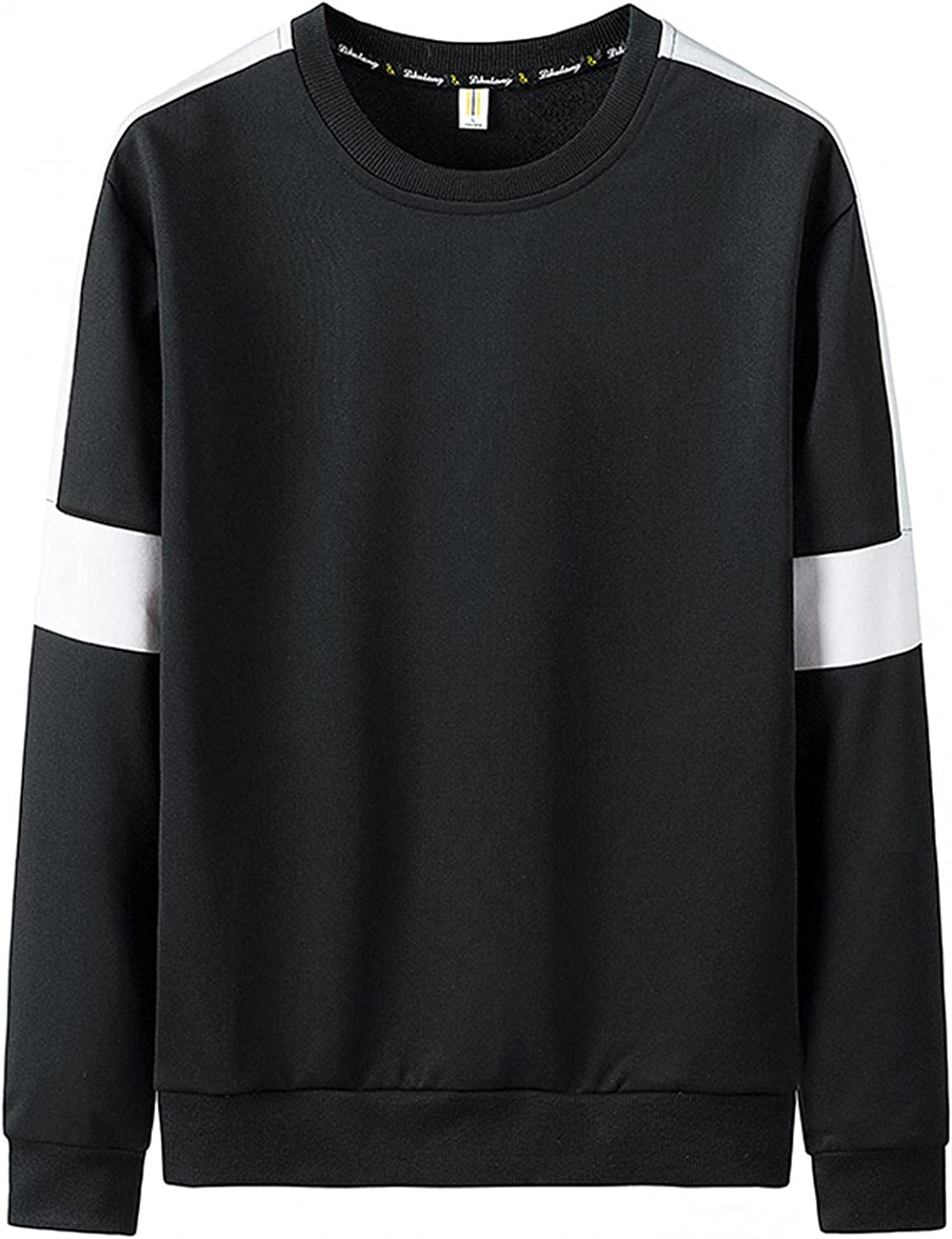 Aayomet Shirts for Men Fashion Thick Autumn Polyester Printed Long Sleeve Shirts O-Neck Casual Mens Sweatshirts