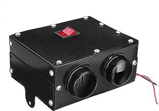 GOZAR 12V 24V 300W Coche Calentador De Camión Calefactor Doble Agujero Calefacción Ventilador Ventana Desempañador - 12V