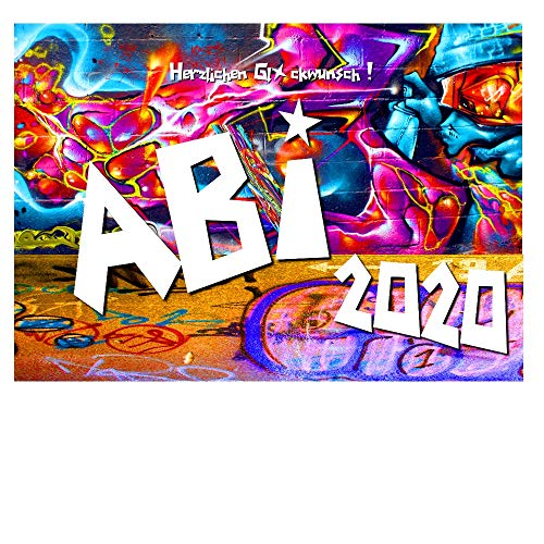 DigitalOase Glückwunschkarte ABI 2020 ABITURSPRÜFUNG A5 Gratulationskarte Grußkarte #GRAFFITY