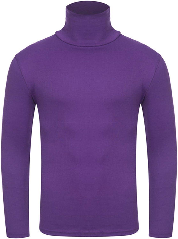 KAILUN Men's Knitted Turtleneck Long Sleeve Lightweight High Collar Casual Wearing Thermal Sweatshirt Tunics