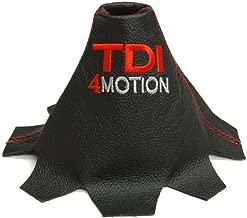 Pour VV Transporter T5/2003 2010/manuel Gear Gu/êtres Noir Italien en cuir /édition 4/Motion /à broder