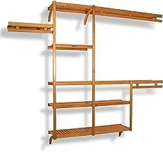 John Louis Home JLH-522 Standard 12-Inch Depth Closet Shelving System, Honey Maple