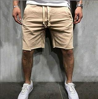 メンズドローストリングウエスト付き膝丈コットンショーツサイドポケット付きメンズスウェットショーツ夏のショートパンツ,c,XXXL
